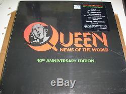 Queen News Of The World, Édition Limitée Du 40ème Anniversaire Du Coffret Lp / Cd, Scellée