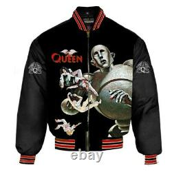 Queen News Of The World Nylon Bomber Jacket Toutes Tailles Gratuites Live 2 CD