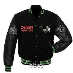 Queen News Of The World Tour Of USA Varsity Veste Toutes Tailles