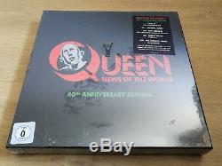 Queen Nouvelles Du Monde 40 Anniversaire Deluxe-lp Súper + 3cds + DVD Nouveau Scellés