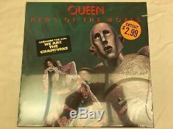 Queen Nouvelles Du Monde Hype Disque Vinyle Lp Autocollant Shrinkwrap 1977 Monnaie Sealed