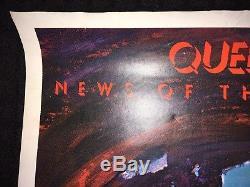 Queen Orig 1977 Elektra Nouvelles Du Monde Promo Affiche Mott Glam Énorme