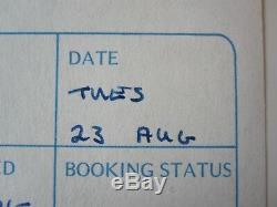 Queen Originale Brian May Signé Nouvelles De La Session Album World 1977 Log