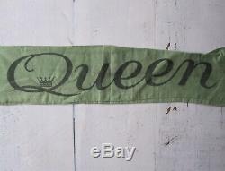Queen Vintage Original 1977 Concert Tour Scarf Nouvelles De La Bannière Mondiale