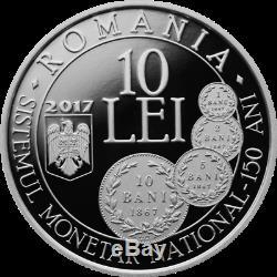 Rare 10 Lei 2017 Carol I Nouveau Système Monétaire Et Le Monnayage Des Pièces Nationales
