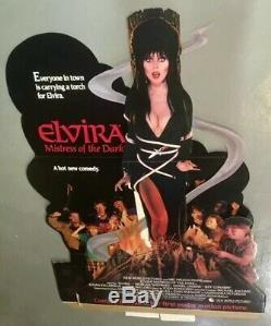 Rare Elvira Maîtresse Des Ténèbres 1988 Complète Film Standee Nouveau Monde