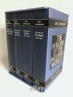 Rare Eric Hobsbawm La Fabrication Du Monde Moderne, Folio Society, 4 Vol, As New