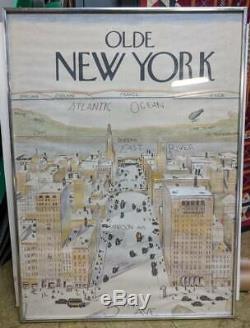 Rare Originale 1976 The New Yorker Couverture Vue Du Monde Du 5 Ave