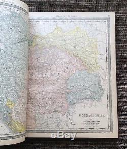 Rare Vintage 1890 Rand Mcnally Nouvel Atlas Standard Du Monde, Anciennes Cartes