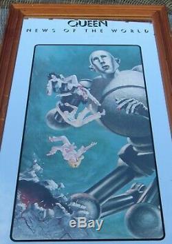 Reine Freddie Mercury 1977 Promo Nouvelles Du Miroir Monde Plus Rare Que L'horloge