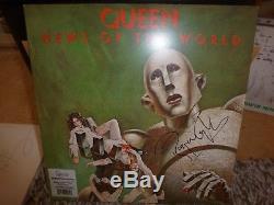 Reine, Freddie Mercury, Brian May, Roger Taylor Signed Nouvelles Du Monde 180g Lp