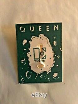 Reine Nouvelles Du Monde Elektra Pin Promotional Très Rare 1977 Logo Reine