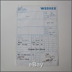 Reine Nouvelles Du Monde Signé 1977 Album Studio Session Journal Autographes