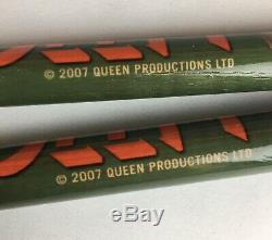Roger Taylor (queen) Nouvelles Du Monde Sticks Promo Tambour (2007) Mega Rare