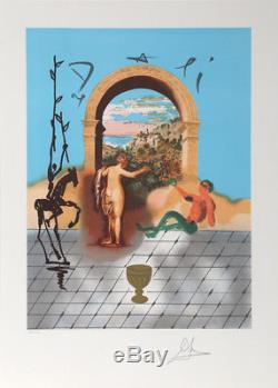 Salvador Dali, Porte Du Nouveau Monde (tarot Five Of Cups), Lithographie