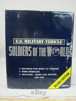 Soldats Du Monde Willys Deluxe Jeep Wwii À L'échelle 1/6 Avec Figurine Nouveauté Dans La Boîte