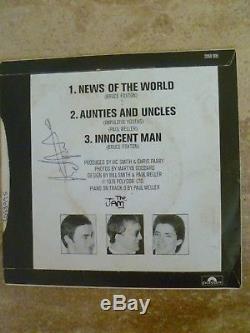 The Jam Entièrement Signé'news Of The World 'single