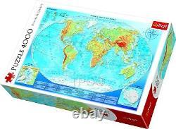Trefl 3000 Piece Adult Large Grande Carte Physique Du Puzzle Du Monde Nouveau