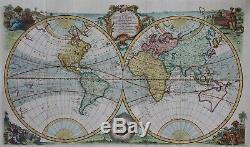 Une Nouvelle Carte Précise Et De Tout Le Monde Eman Bowen Connu 1744 Mappemonde Rare