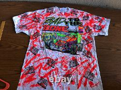 Vintage Rare 1992 Bad To The Bone Sprint Car T Shirt World Of Outlaws Nos! Nouveau
