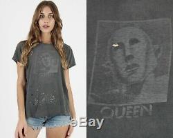 Vtg 1977 Concert Du Groupe De Musique Queen Rock Nouvelles Du Monde Freddie Mercury Tee T Shirt