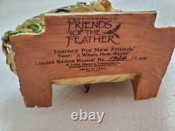 Vtg Enesco Friends Of The Feather Ltd Edition Boîte À Musique Noah Ark Whole New World